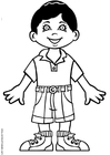 Coloring pages David