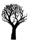 Coloring page dead tree