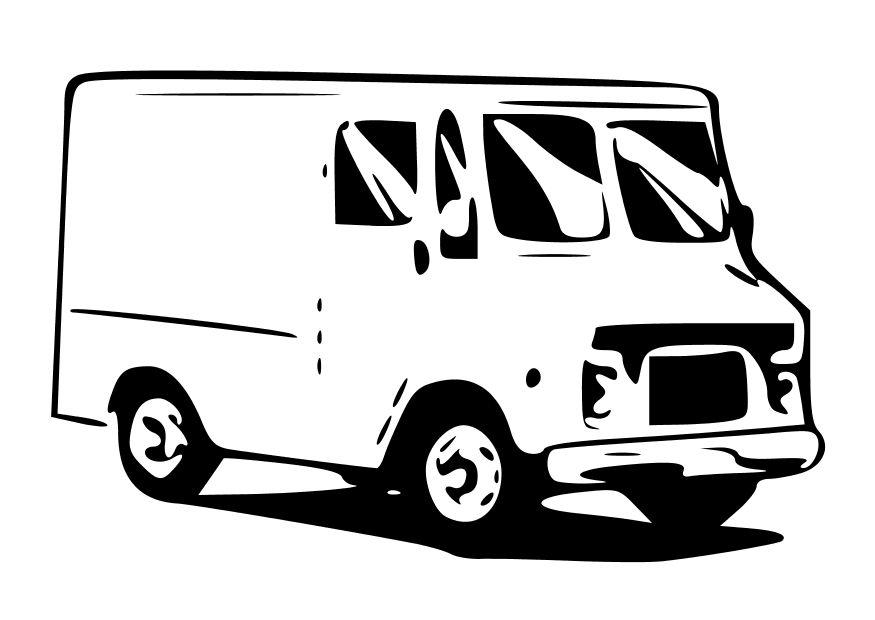Coloring Page Delivery Van