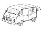 Coloring page delivery van