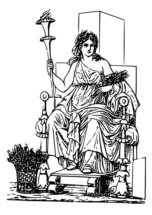 Coloring page Demeter