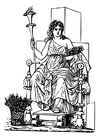 Coloring pages Demeter