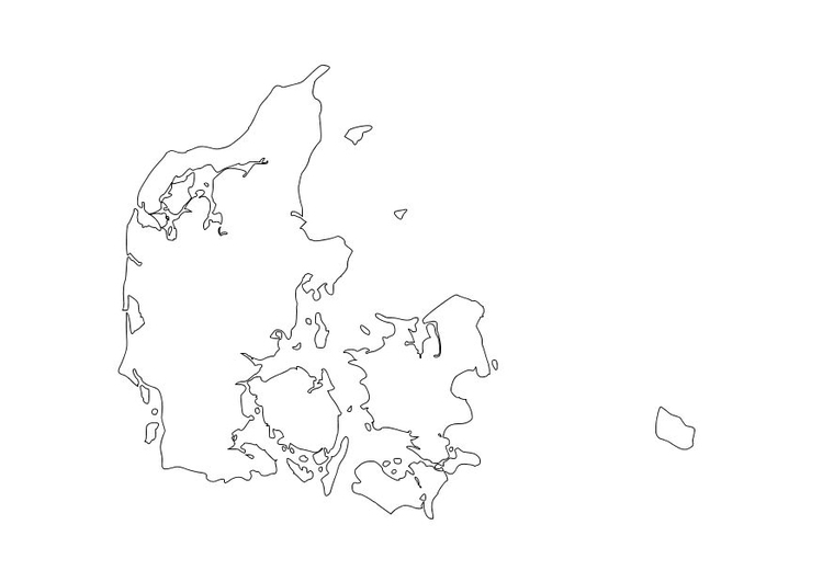 Coloring page Denmark