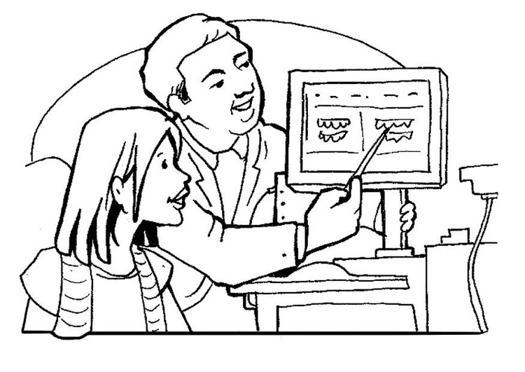 Coloring page dentist