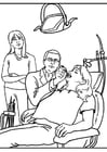 Coloring pages dentist
