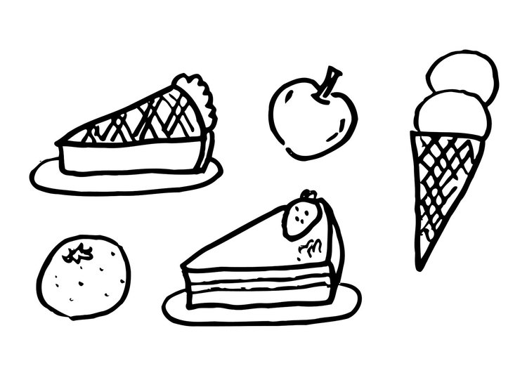 Coloring page dessert