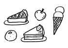 Coloring pages dessert