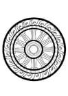 Coloring pages dharma wheel