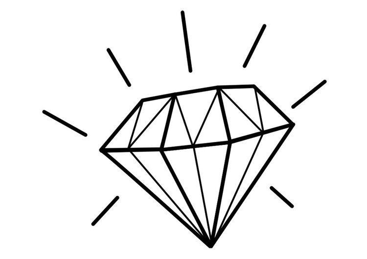 Coloring page diamond - img 22466.
