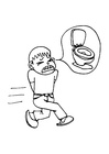 Coloring page diarrhoea