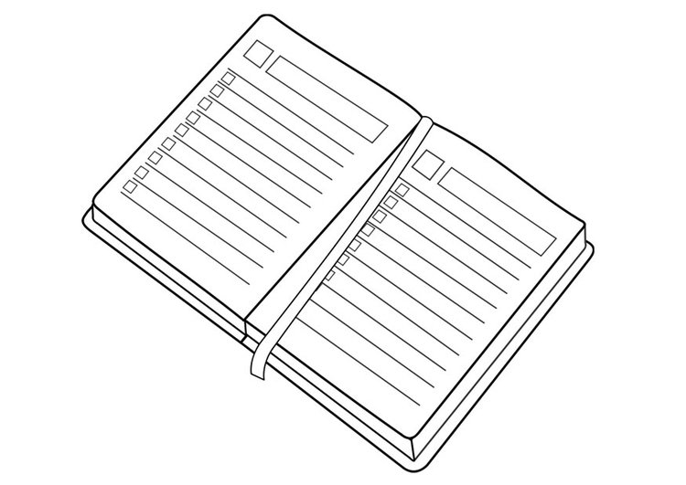 Coloring page diary