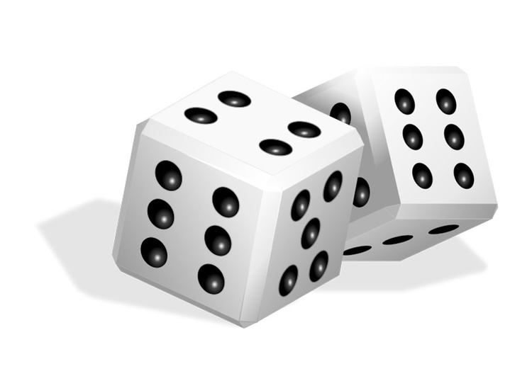 Coloring page dice
