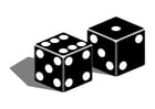 Coloring pages dice