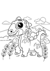 Coloring pages dino on the go