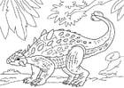 Coloring page dinosaur - ankylosaurus
