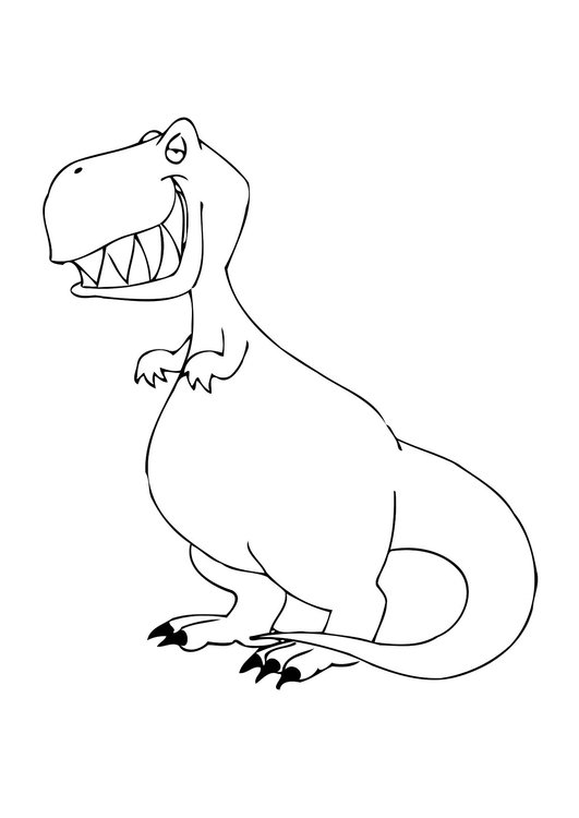 Coloring page dinosaur