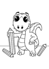 Coloring pages dinosaur draws