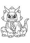 Coloring pages dinosaur girl