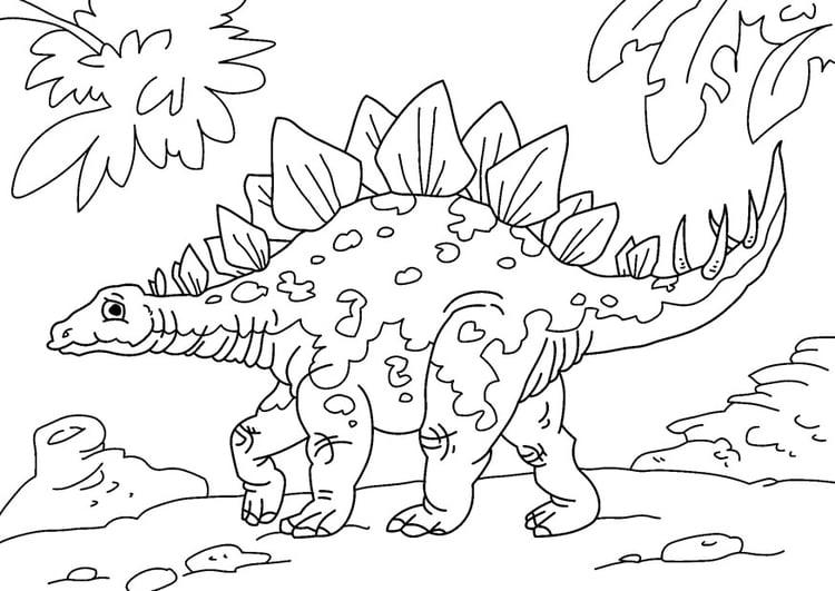 coloring page dinosaur stegosaurus free printable coloring pages edupics com