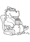 Coloring pages dinosaur to the movies