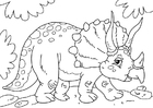 Coloring pages dinosaur - triceratops