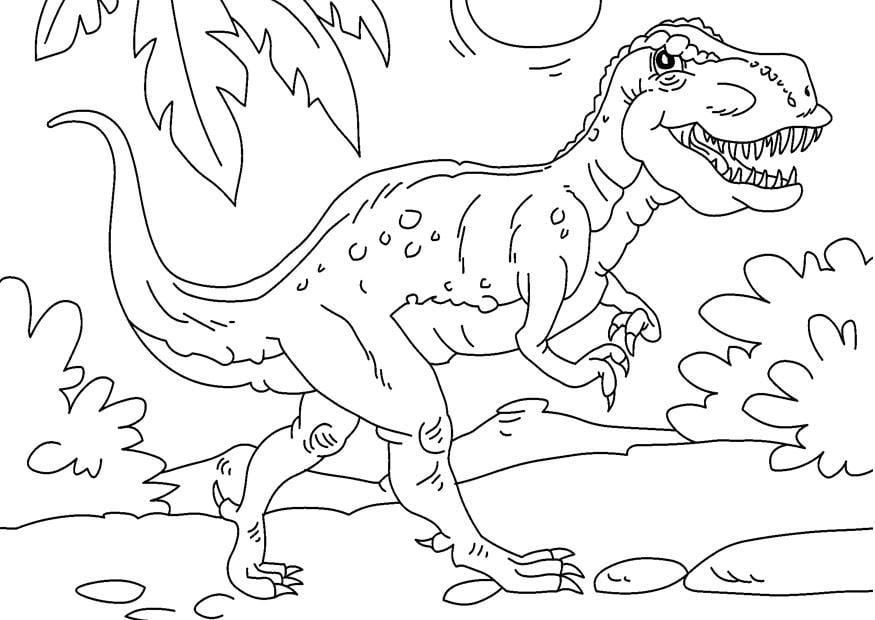 Раскраски тираннозавра распечатать
