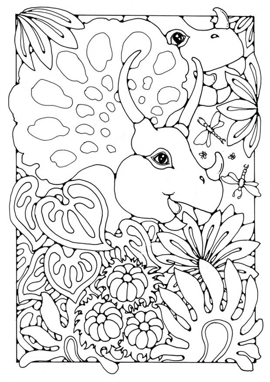 Coloring page Dinosaurs