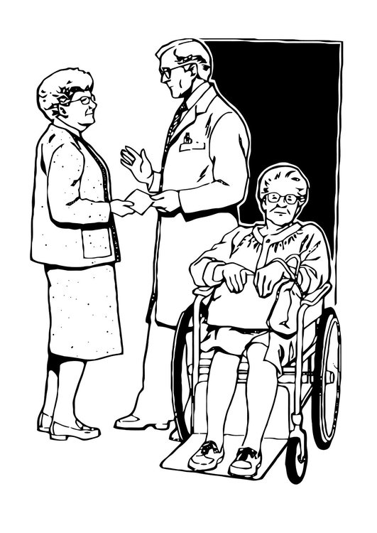 Coloring page discharge from hospital