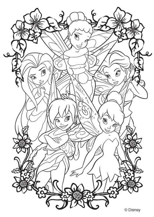 Coloring page Disney Fairies