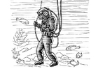Coloring page diver