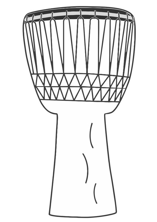 Coloring page djembe
