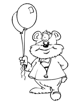 Coloring page doctor bear