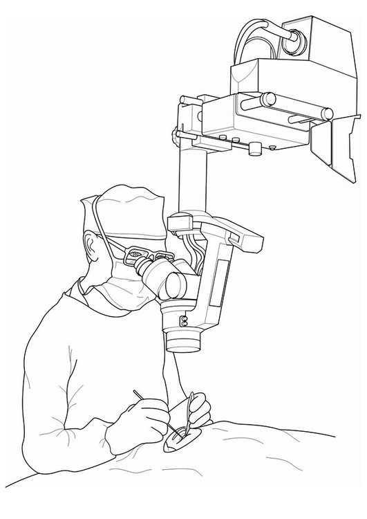 Coloring page doctor - surgery
