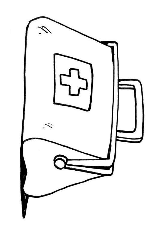 Ziek En Gezond Kleurplaat Coloring Page Doctors Bag Img 12114