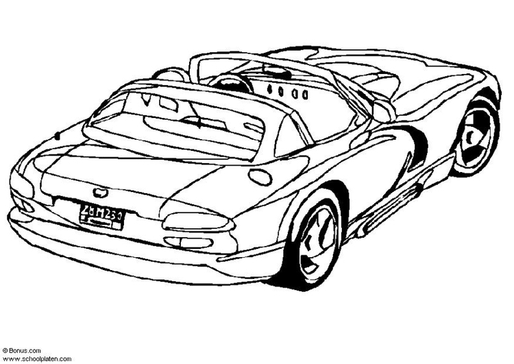 Coloring page Dodge Viper