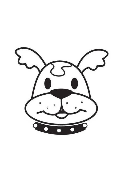 Coloring page Dog Head