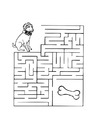 Coloring pages dog maze