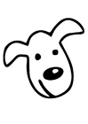Coloring page dog's head