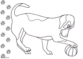 Coloring page dog