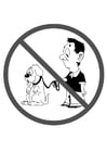 Coloring page dogs forbidden
