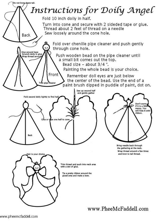 Coloring page Doily angel