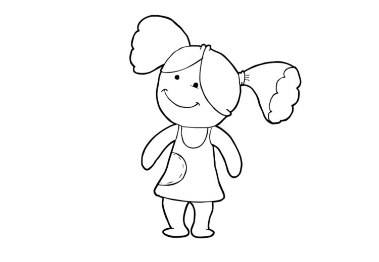 Coloring page doll