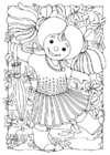Coloring page doll - girl