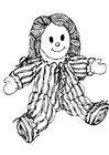 Coloring pages doll