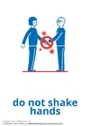 Coloring page don't shake hands