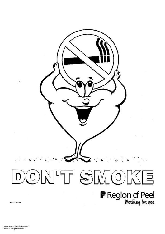 Coloring page don´t smoke