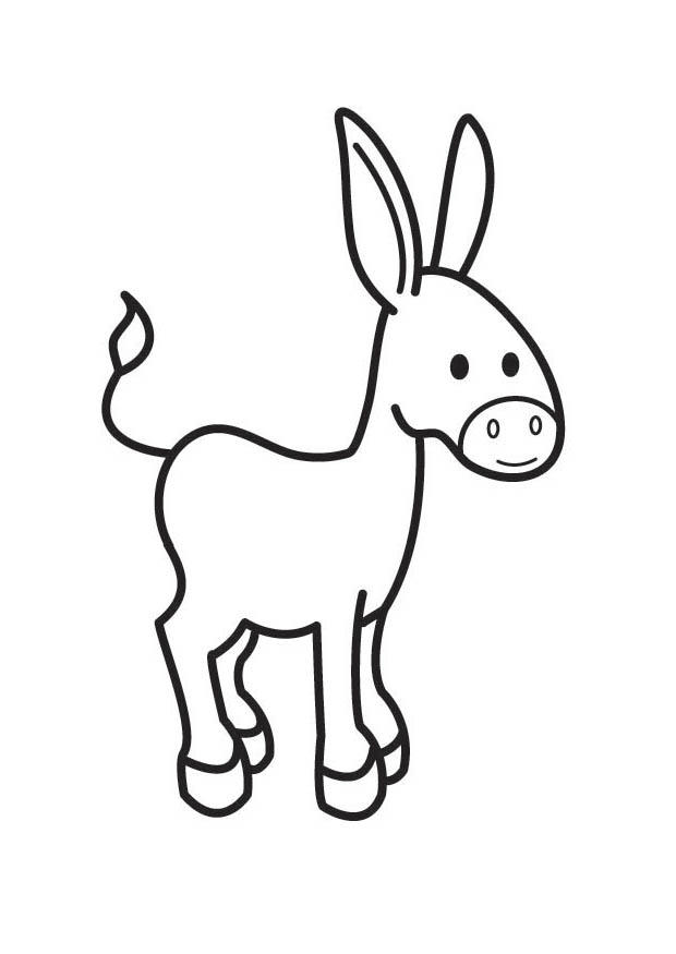 Coloring Page donkey - free printable coloring pages