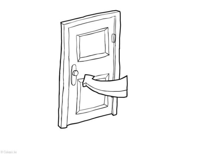 Coloring page Door closed - Energy saving