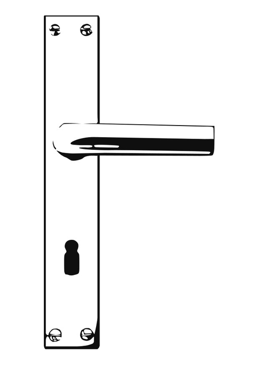 Coloring Page Door Handle