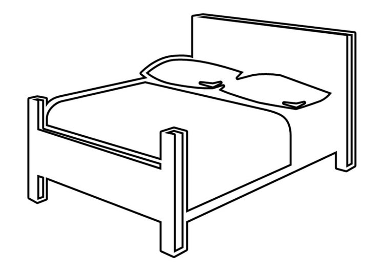 Coloring page double bed